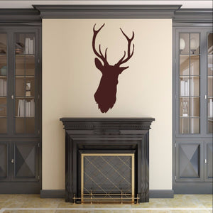 Deer Head Style B Vinyl Wall Decal 22524 - Cuttin' Up Custom Die Cuts - 1