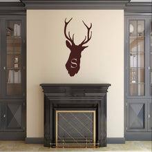 Load image into Gallery viewer, Deer Head Monogram Style B2 Vinyl Wall Decal 22524 - Cuttin' Up Custom Die Cuts - 1