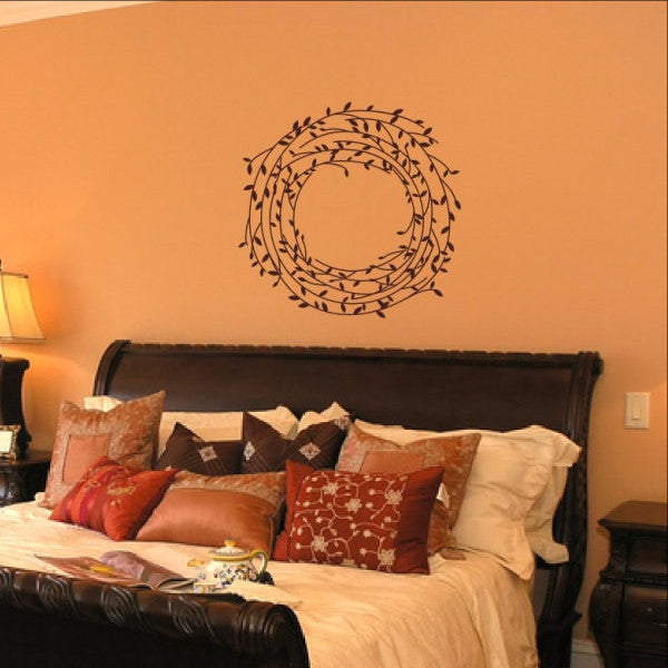 Laurel Vine Wreath Vinyl Wall Decal 22543 - Cuttin' Up Custom Die Cuts - 1
