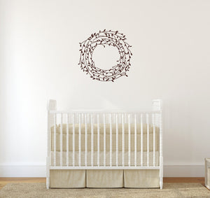 Laurel Vine Wreath Vinyl Wall Decal 22543 - Cuttin' Up Custom Die Cuts - 3