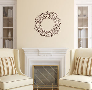 Laurel Vine Wreath Vinyl Wall Decal 22543 - Cuttin' Up Custom Die Cuts - 2