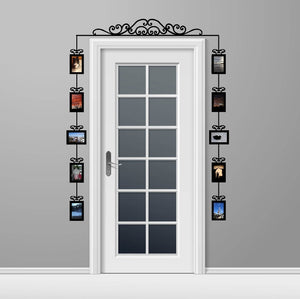 Over The Door Swirl Scroll Photo Frames Set of 10 Vinyl Wall Decals 22540 - Cuttin' Up Custom Die Cuts - 2