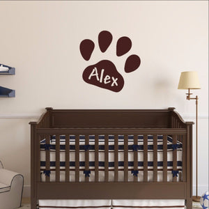 Personalized Paw Print Wall Decal 22546 - Cuttin' Up Custom Die Cuts - 1