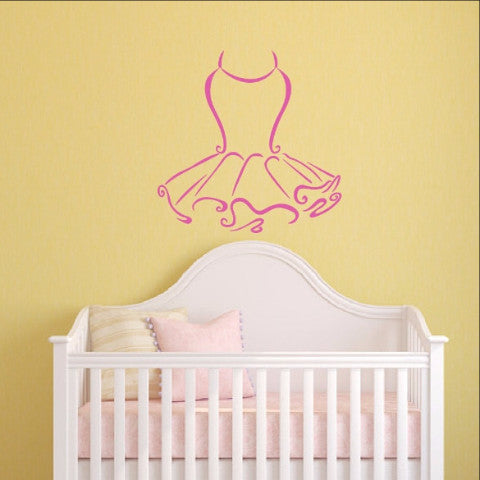 Tutu Vinyl Wall Decal 22389 - Cuttin' Up Custom Die Cuts - 1