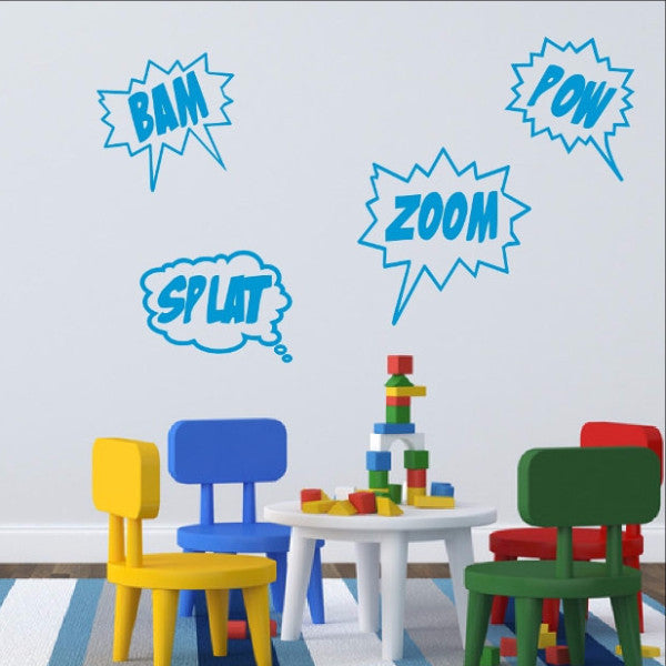 Cartoon Comics Word Bubble Wall Decals 22188 - Cuttin' Up Custom Die Cuts - 1