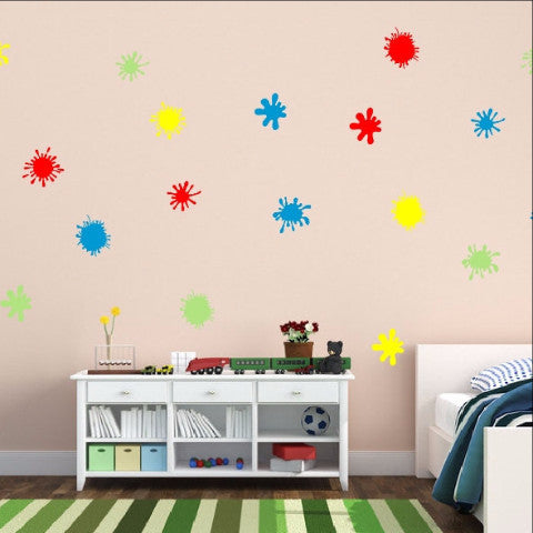 Paint Splatters Vinyl Wall Decal Set 22260 - Cuttin' Up Custom Die Cuts