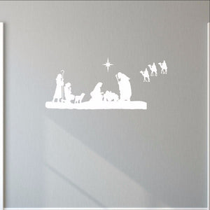 Nativity Scene Vinyl Wall Decal 22351 - Cuttin' Up Custom Die Cuts - 3