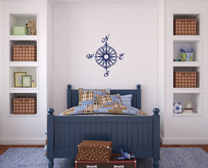 Compass Rose Nautical Vinyl Wall Decal  22165 - Cuttin' Up Custom Die Cuts - 2