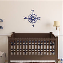 Load image into Gallery viewer, Compass Rose Nautical Vinyl Wall Decal  22165 - Cuttin' Up Custom Die Cuts - 1