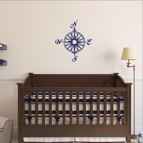 Compass Rose Nautical Vinyl Wall Decal  22165 - Cuttin' Up Custom Die Cuts - 1