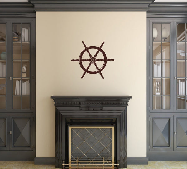Nautical Ships Wheel Vinyl Wall Decal -Nautical Decor 22093 - Cuttin' Up Custom Die Cuts - 2