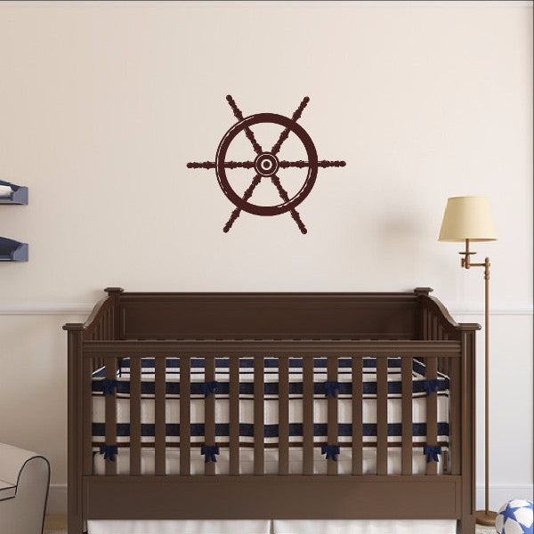 Nautical Ships Wheel Vinyl Wall Decal -Nautical Decor 22093 - Cuttin' Up Custom Die Cuts - 1