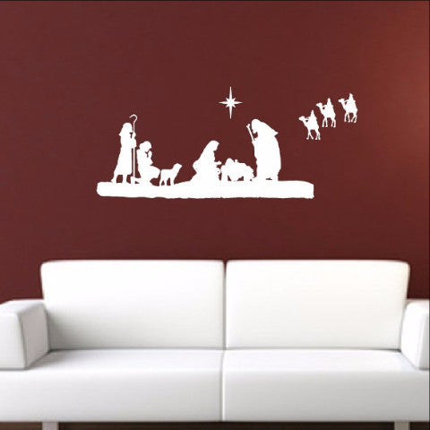 Nativity Scene Vinyl Wall Decal 22351 - Cuttin' Up Custom Die Cuts - 2