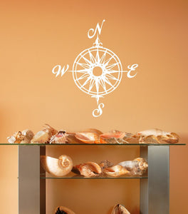 Compass Rose Nautical Vinyl Wall Decal  22165 - Cuttin' Up Custom Die Cuts - 4