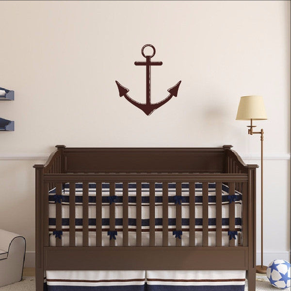 Nautical Anchor Vinyl Wall Decal 22098 - Cuttin' Up Custom Die Cuts - 1