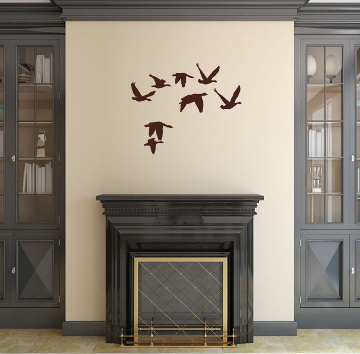 Flying Geese Style 2 Vinyl Wall Decal 22228 - Cuttin' Up Custom Die Cuts - 1