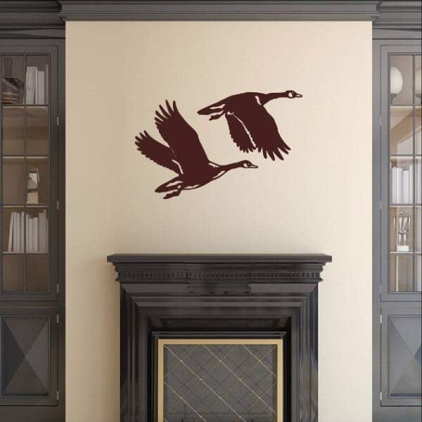 Geese Style B Vinyl Wall Decal 22339 - Cuttin' Up Custom Die Cuts - 1