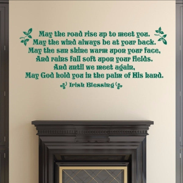 Irish Blessing Vinyl Wall Decal 22511 - Cuttin' Up Custom Die Cuts - 1