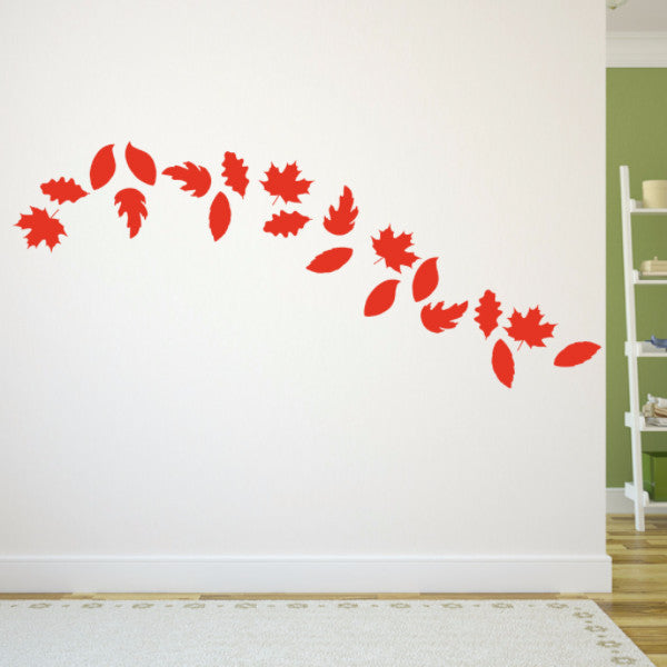 Fall Leaves Set of 20 Vinyl Wall Decals 22584