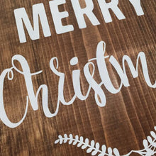 Load image into Gallery viewer, Merry Christmas Painted Wood Sign