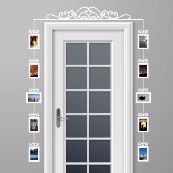 Over The Door Swirl Scroll Photo Frames Set Of Vinyl Wall Decals - Custom die cut vinyl wall decals