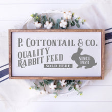 Load image into Gallery viewer, P Cottontail & Company Quality Rabbit Feed Painted Wood Sign White