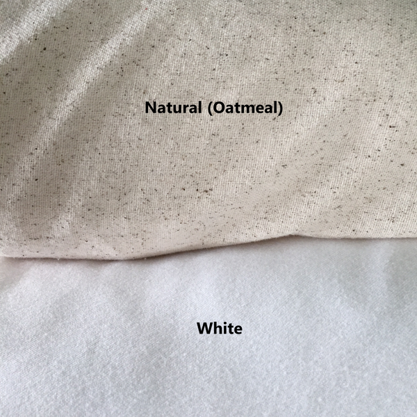 White Or Natural Pillow Cover Fabric