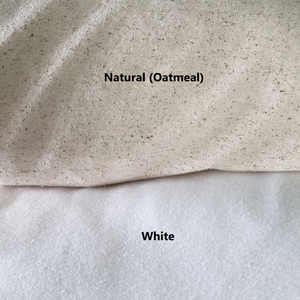 Natural And White Pillow Cover Fabric