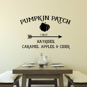 Pumpkin Patch Rustic Style Vinyl Wall Decal 22576
