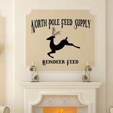 Load image into Gallery viewer, North Pole Feed Supply Reindeer Feed Vinyl Wall Decal 22598