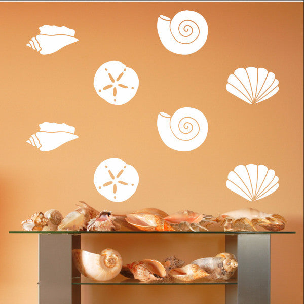 Sea Shells Variety Set of 19 Vinyl Wall Decals 22579 - Cuttin' Up Custom Die Cuts - 1