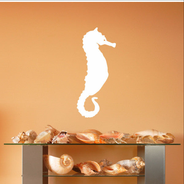 Seahorse Style A Vinyl Wall Decal 22562 - Cuttin' Up Custom Die Cuts - 1