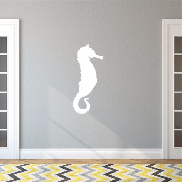 Large Seahorse Style A Vinyl Wall Decal 22565 - Cuttin' Up Custom Die Cuts - 1
