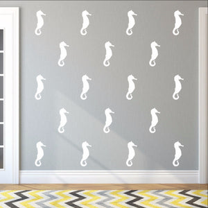 Seahorse Style A Set of 5 Inch Vinyl Wall Decals 22564 - Cuttin' Up Custom Die Cuts - 1