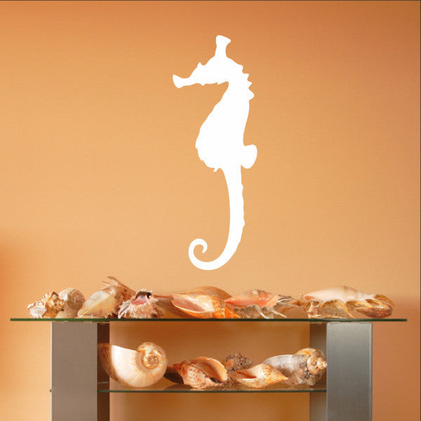 Seahorse Style B Vinyl Wall Decal 22559 - Cuttin' Up Custom Die Cuts - 1