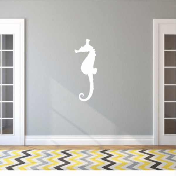 Large Seahorse Style B Vinyl Wall Decal 22566 - Cuttin' Up Custom Die Cuts - 1
