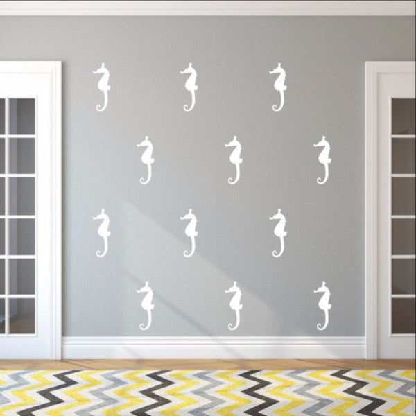 Seahorse Style B Set of 5 Inch Vinyl Wall Decals 22561 - Cuttin' Up Custom Die Cuts - 1