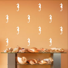 Load image into Gallery viewer, Seahorse Style B Set of 5 Inch Vinyl Wall Decals 22561 - Cuttin' Up Custom Die Cuts - 2