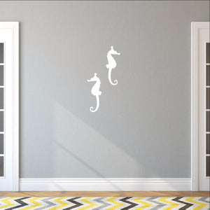 Seahorse Style B Set of 2 Vinyl Wall Decals 22560 - Cuttin' Up Custom Die Cuts - 2