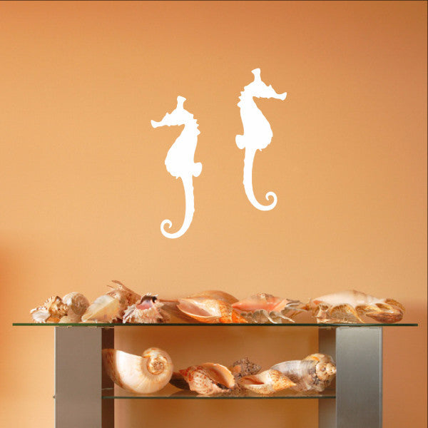 Seahorse Style B Set of 2 Vinyl Wall Decals 22560 - Cuttin' Up Custom Die Cuts - 1