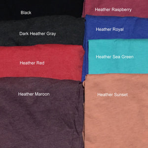 T Shirt Color Choices