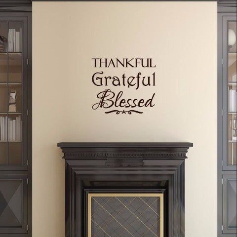 Thankful Grateful Blessed Christian Decor - Thanksgiving Decor 22470 - Cuttin' Up Custom Die Cuts - 1