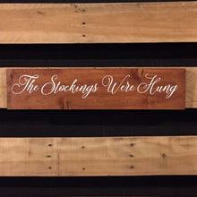 Load image into Gallery viewer, Stocking Hanger Wood Sign