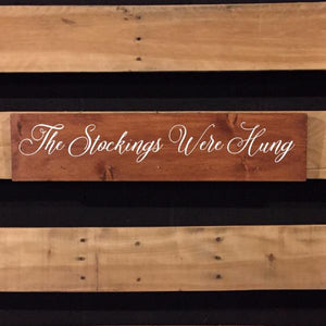 Stocking Hanger Wood Sign