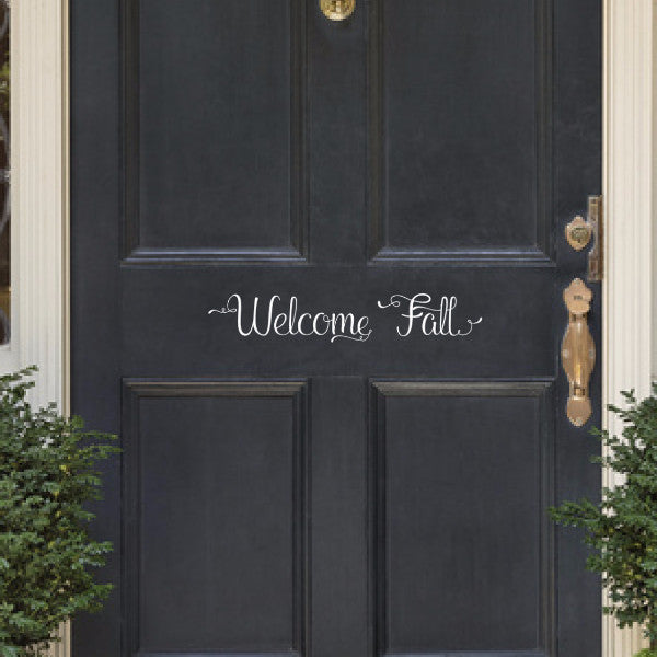 Welcome Fall Vinyl Lettering Door Decal 22580
