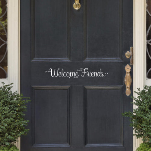 Welcome Friends Vinyl Door Decal 22579