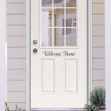 Load image into Gallery viewer, Welcome Home Vinyl Door Decal 22583