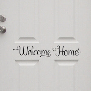 Welcome Home Vinyl Door Decal 22583
