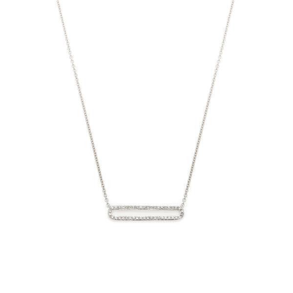 Rectangular Diamond Outline Pendant-55% OFF!