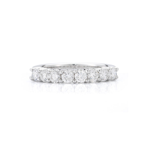 The Eight Stone Round Diamond Wedding Band